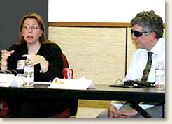 Elizabeth A. Davis and FEMA Civil Rights Program Manager, Alan Clive, lead a discussion on emergency preparedness.