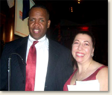 Elizabeth Davis, founder of EAD & Associates, at the Disability Power and Pride Inaugural Ball in Washington, DC with Kareem Dale, Special Assistant to the President for Disability Policy